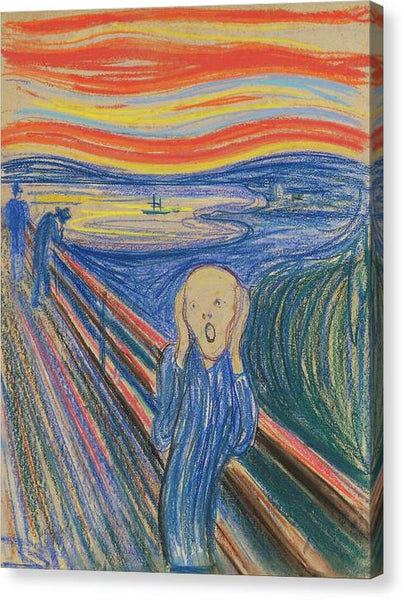 Edvard Munch The Scream 1896 - Stretched Canvas Print Ready to Hang