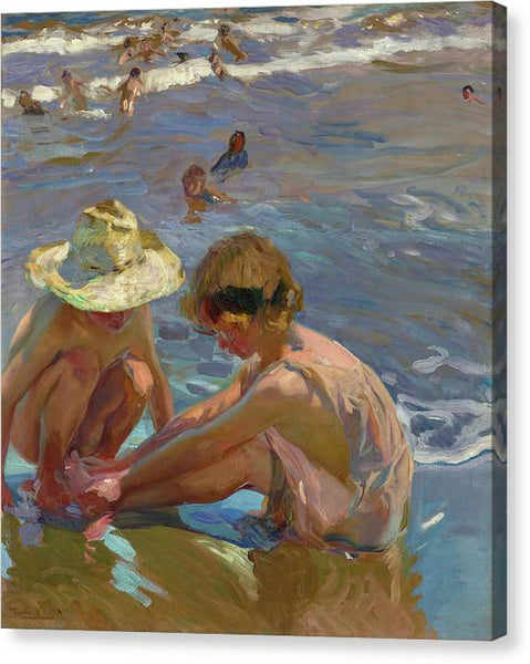 Joaquin Sorolla The Wounded Foot 1909 - Stretched Canvas Print Ready to Hang