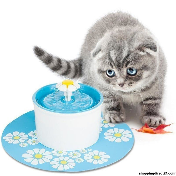 1.5L 3 Style Flower Fountain New Automatic Cat Dog Kitten Water Drinking Pet Bowl Drink Dish Filter