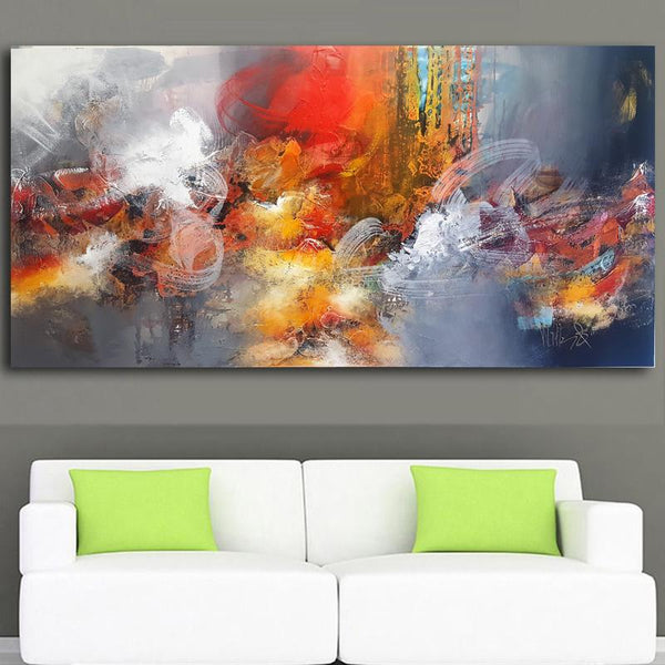 Large Size Art Modern Abstract Painting Colorful Art Decor (Hand Painted!) Products On Etsy