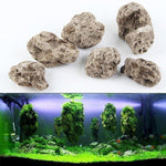 3Pcs / lot Avatar Flottant De Vraies Rochers Aquarium Plante Aquatique Fish Tank Aquatique Paysage Mousse