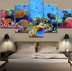 5 Frame frame available Coral Reef HQ Canvas Print Painting with frame