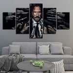 5 peces John Wick Poster Painting HQ Canvas Print Frame disponible