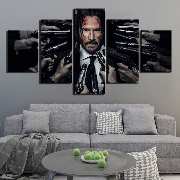 5 Pieces John Wick Poster Painting HQ Canvas Print frame available