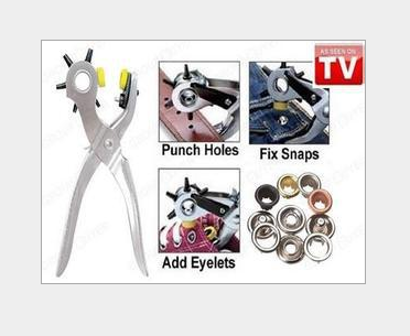 Roto Punch Leather Hole Punching Tool Mending Solution Add Eyelets Pliers