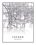 Arizona Tucson kunsttryk bykort digital download