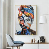 Hq lærred Udskriv Wall Art Abstract Woman With Frame 40X60Cm Only Canvas / 040-02