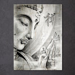 Buddha Painting Zen Wall Pictures Living Room FRAME AVAILABLE HQ Canvas Print