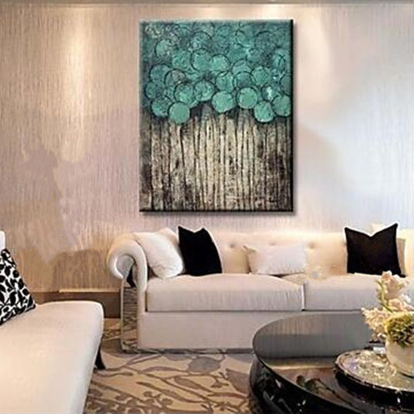Handpainted Abstract flower trees Oil Painting Canvas handmade tree oil painting
