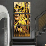 3 Panel Picture Indian Colorful Feather Art Print Poster Wall Decoration with FRAME HQ Canvas Print