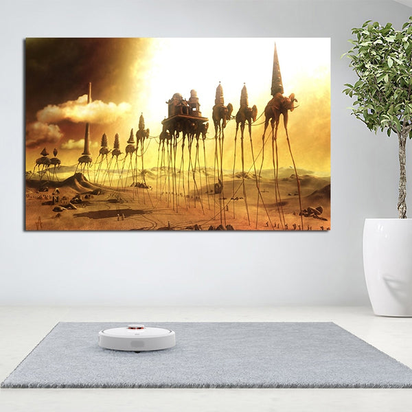 Salvador Dali The caravan HQ Canvas Print Art Poster And Prints Surreal Abstract Canvas Paintings On The Wall Pictures for Living Room Wall Decor