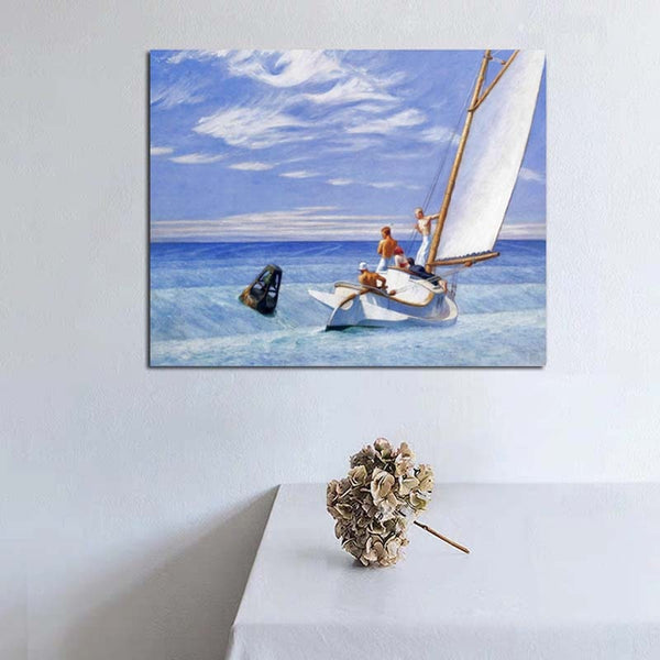 Edward Hopper Ground Swell Wall Art HQ Canvas Print Famous with Frame