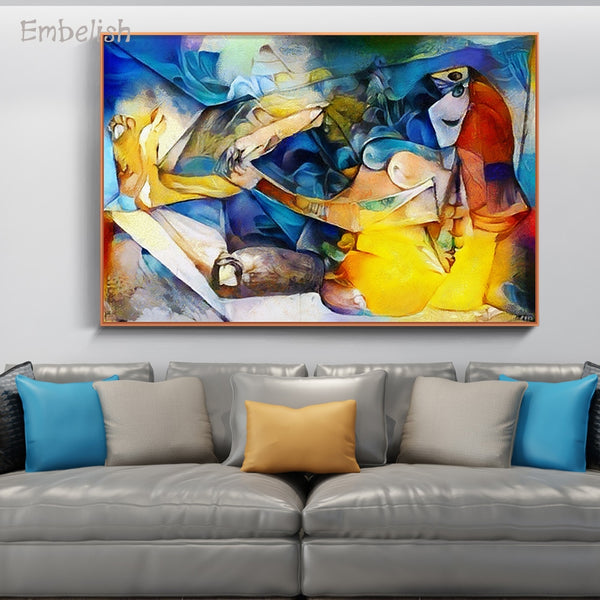 Abstract Famous Artwork Picasso Home Decor Wall ArtHQ Canvas Print frame available