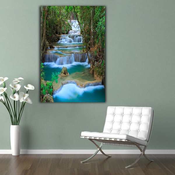 Modern Wall Art Waterfall Landscape Picture HQ Canvas Print frame available
