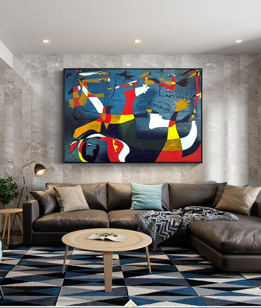 Hq Canvas Print Famous Picasso Abstract Oil Painting Wall Art Products On Etsy