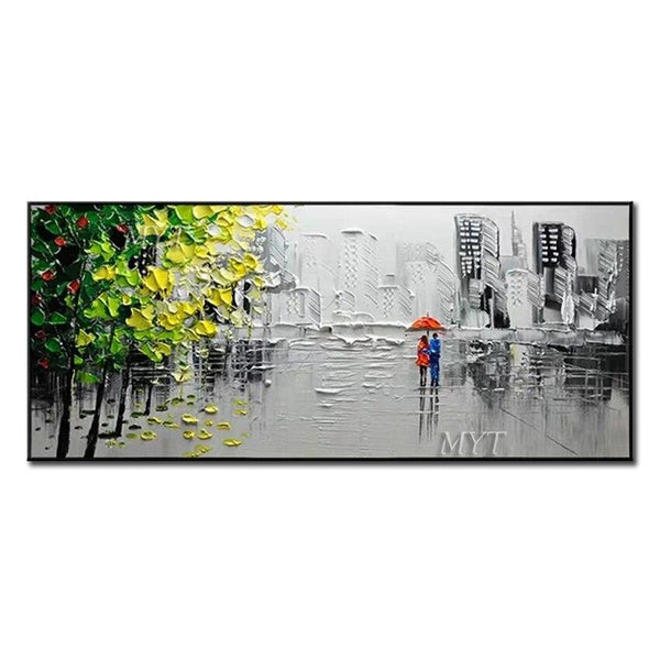 Frameless Picture Modern Wall Decoration Handpainted Painting On Canvas Oil