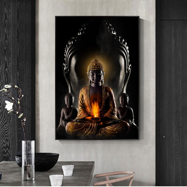 Buddha Wall Art Canvas Prints Modern Buddha HQ Canvas Print Art