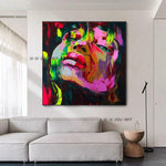 Hand Painted Modern Abstract Fine Art Francoise Nielly Style Artwork Canvas Painting Art