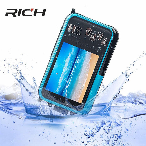 H268 Digital Camera 3M Waterproof 2.7 Inch +1.8 Double Screen Max 24Mp 16 Times Zoom Black Camcorder
