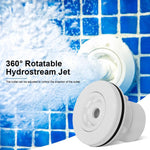 Swimming Pool Outlet Nozzle Spa Eyeball Jet Kapalit ng 360 Degree Rotatable Opening Hydrostream Jet