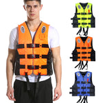 Universal Outdoor Swimming Boating Skiing Driving Vest Survival Suit Polyester Life Jacket for Adult Children