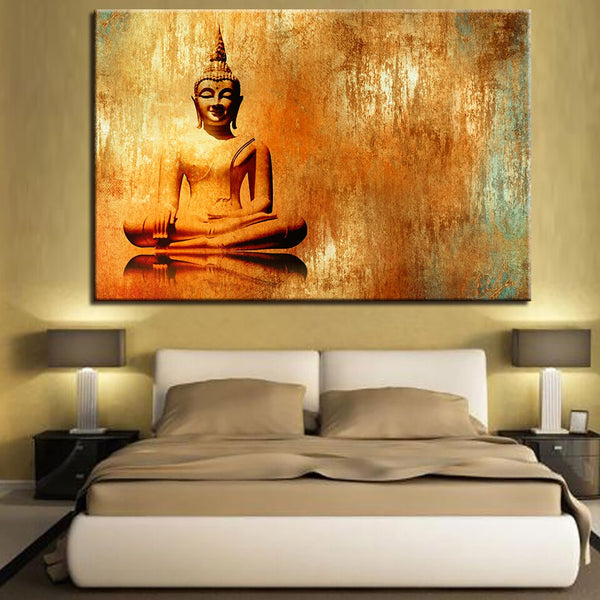 Zen Buddha Painting Buddhism HQ Canvas Print Home Decoration frame available