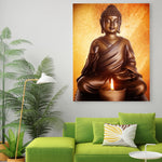 Buddha sitting painting room decoration HQ Canvas Print WITH FRAME