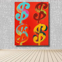 앤디 워홀 아트 HQ Canvas Print의 Modern Four Paper Dollars 1982