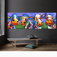 Wall Art Decor Stampa Immagini astratte Cute Cow Canvas Poster HQ Canvas Print