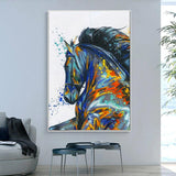 Animal Print Horse Portrait Picture No Frame