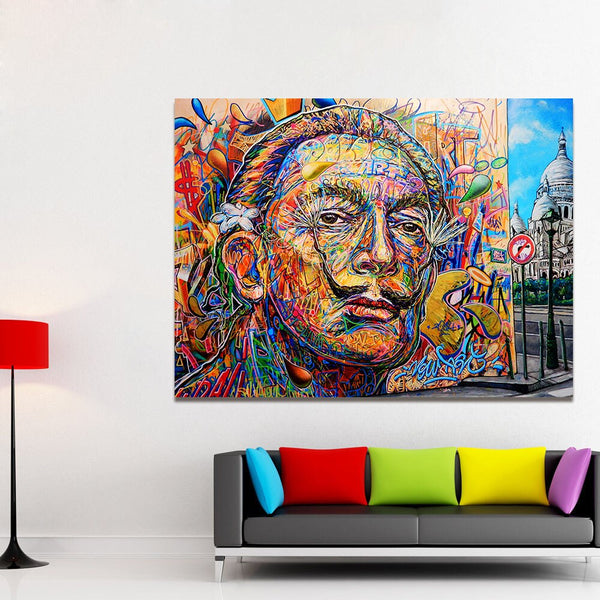 Salvador Dali Portrait Modern HQ Canvas Print