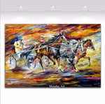 Mintura Art Hand Painted Palette Knife Tree Landscape Oil Paintings on Modern Wall Picture Home Decor