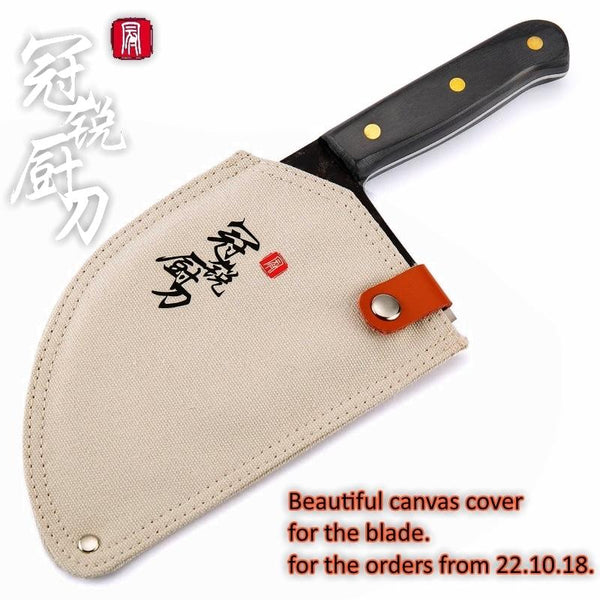 Handmade Forged Chef Knife Clad Steel Chinese Cleaver Professional Kitchen Knives Meat Vegetables