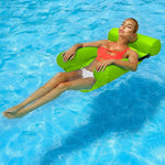 PVC Summer Inflatable Foldable Floating Row Pool Pool Water Hammock Air Mattresses Bed Beach Water Sports Lounge Lounge