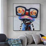Frog With Glass Wall Art Animal Canvas Art Wall Pictures Bedroom Home Decor