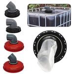 Outdoor Garden IBC Ton Barrel Cover Durable Plastic Cover With Vent Hole Ton Barrel Filter Cover