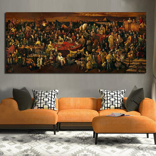 Discussing The Divine Comedy With Dante Art Home Decor No Frame
