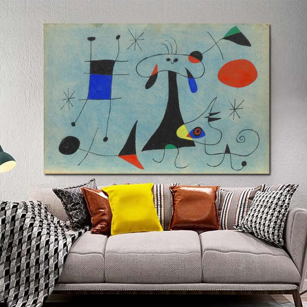 Joan Miró Famous Painter Wall Art HQ Canvas Print Painting with frame