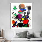 Joan Miró Litografia Wall Art HQ Canvas Сүрөт менен рамка