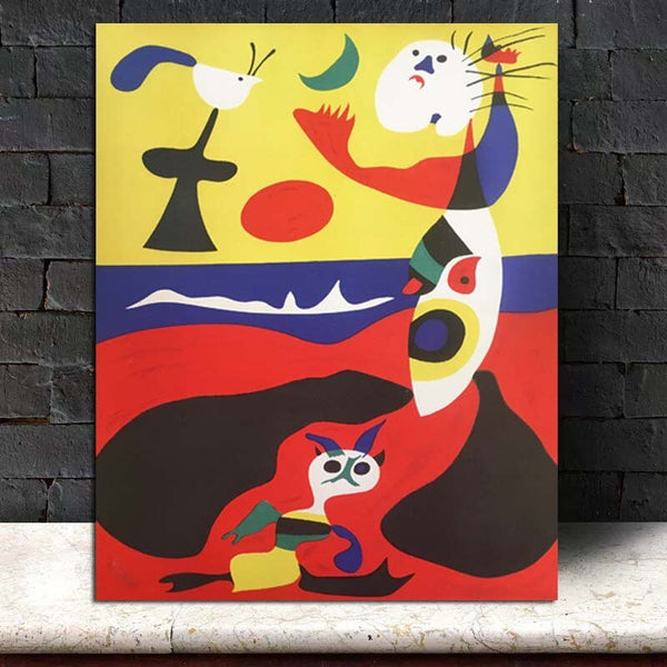Joan Miró Wall Art HQ Canvas Print Painting frame available