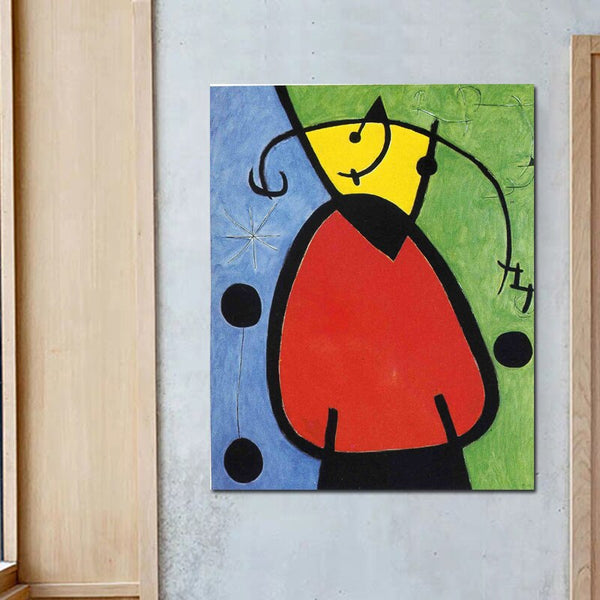 Joan Miró The Birth Of Day HQ Canvas Print Painting with frame