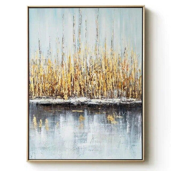 Abstract Oil Paintings On Canvas Modern Decor Wall Landscape Picture Handpainted 100Cmx160Cm / No