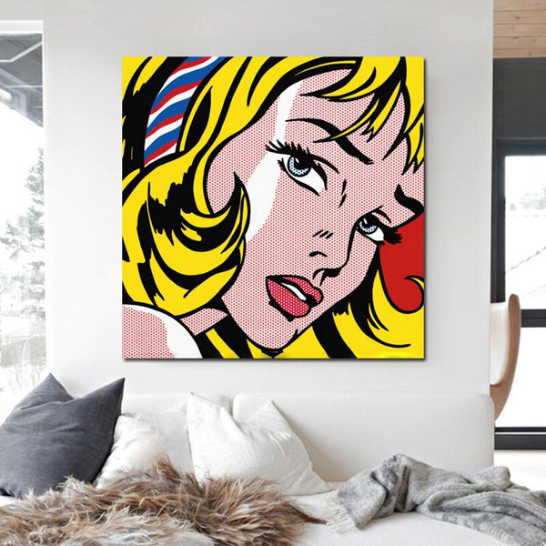 Lichtenstein Modern Beauty Avatar HQ Canvas Print Painting frame available
