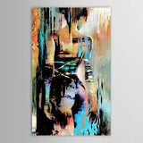 Abstract Graffiti Nude Oil Malings on Canvas Large Ink Sexy Naked Women (håndmalet)
