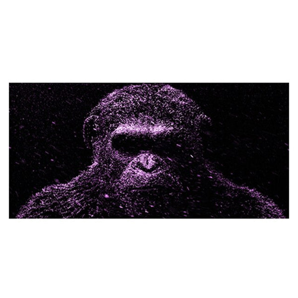 Gorilla Animal HQ Canvas Print King Is Good Boy Wall Art Picture