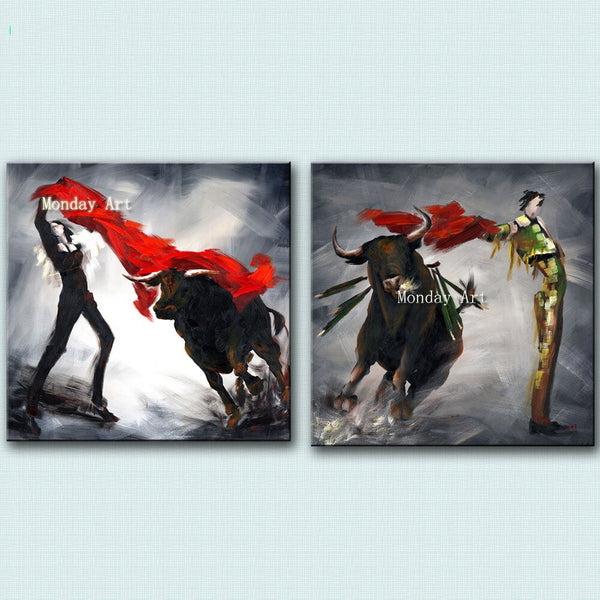 Spanish bullfighting HQ Oil Paintings Hand painted Modern