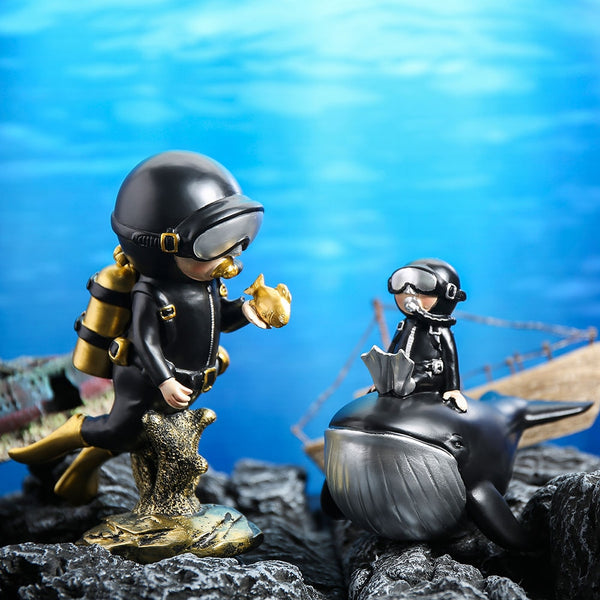 Diver Cute Cartoon Home Resin Decoration Desktop Living Room