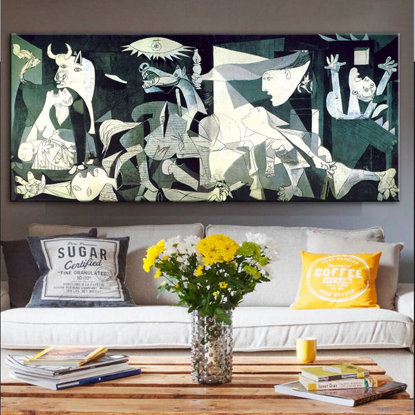 Picasso Guernica Famous Painting HQ Canvas Print Artwork Reproduction