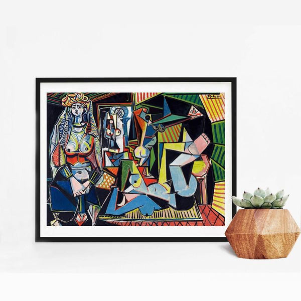 Hq Canvas Print Picasso Women Of Algiers Famous Wall Art With Frame 24X32 Inch / With Frame Products
