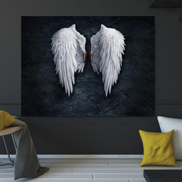 Wing Print The Powerful Wing Painting Art On Canvas No Frame